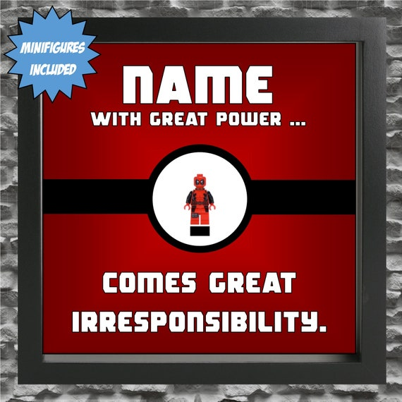 Deadpool Persoanlised Minifigure Frame