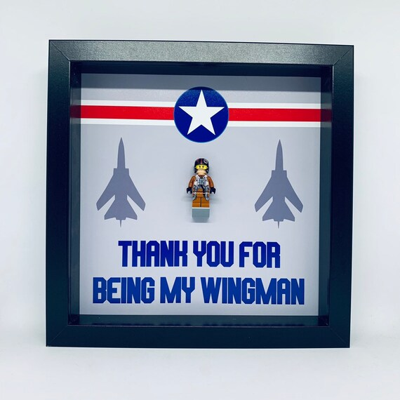 "Best Man ""Thank You For Being My Wing Man"" Minifigure Frame"