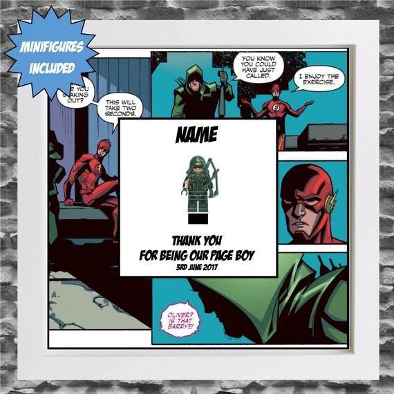 Green Arrow Best Man, Groomsman, Usher, Page Boy Minifigure Frame