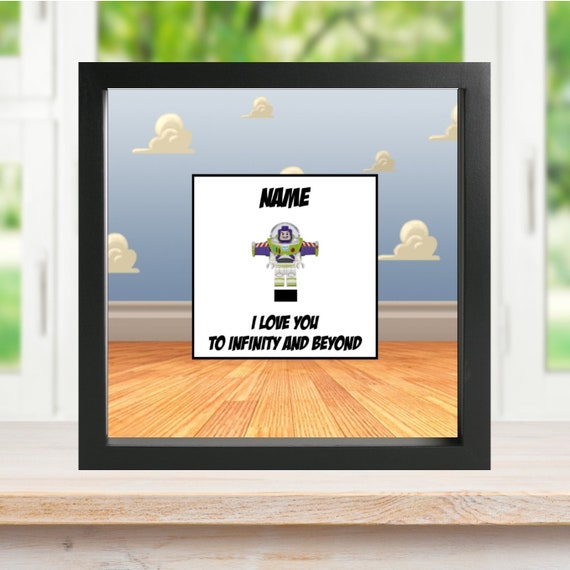 Buzz Lightyear Minifigure Frame, Mum, Gift, Geek, Box, Dad, Idea, For Her, For Him, Fathers Day, Art, Frames, Framed, Birthday,