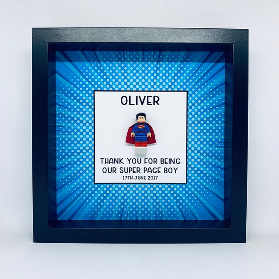 Personalised Super Page Boy Wedding Frame Minifigure Personalized Gift. Multiple Characters