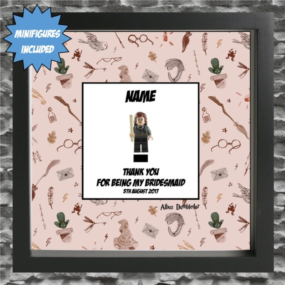Hermione Granger Bridesmaid, Flower Girl Minifigure Frame