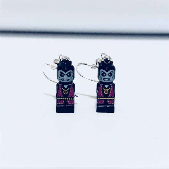Vampire Minifigure Dropdown Earrings