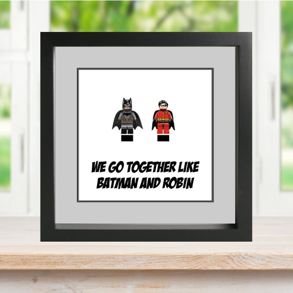 "Batman And Robin ""We Go Together"" Minifigure Frame"