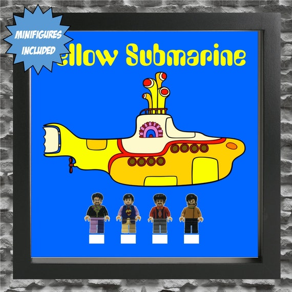 "The Beatles ""Yellow Submarine"" 4PC Minifigure Frame"