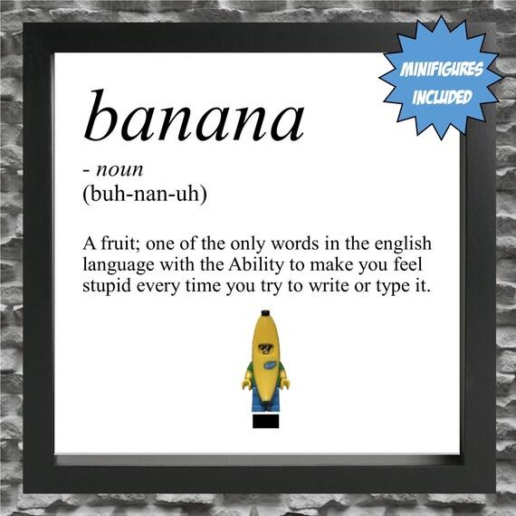 Banana Definition Minifigure Frame