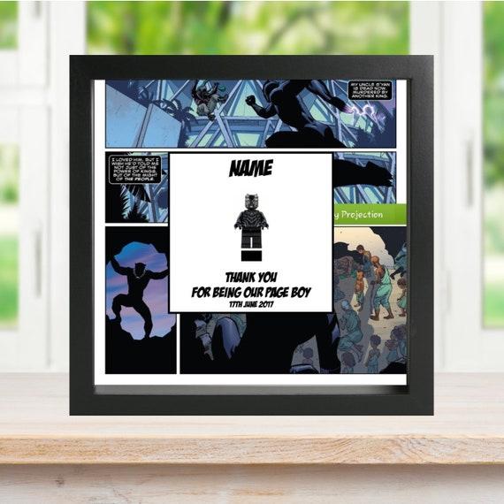 Black Panther Best Man, Groomsman, Usher, Page Boy Minifigure Frame