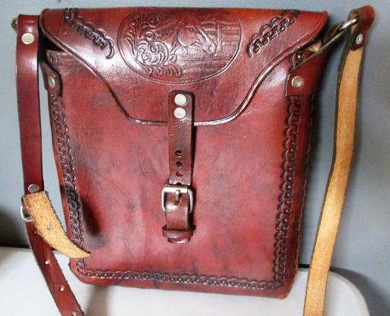 a00e651077 VintageTooled Boho Hippie Saddle Bag Shoulder Bag Purse Horse