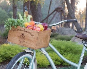 Wine Crate Bike Basket