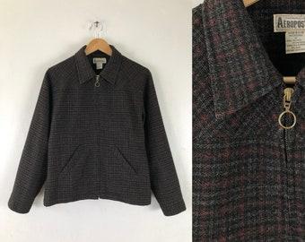 Vintage 90/'s beige plaid button down jacket blazeroffice jacketoffice blazer90s secretary jacketschoolteachernormcore jacketnormcore