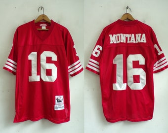 Cheap Joe montana jersey | Etsy  free shipping