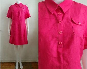 68579000cd10 Vintage Minimalist Shirt Dress