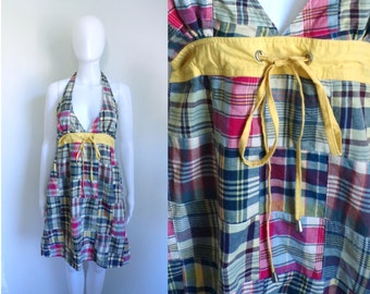 ba5108ff6751 90s madras dress size small