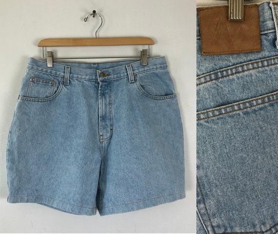 Vintage Mens Denim Shorts | 90s Light Wash Short C