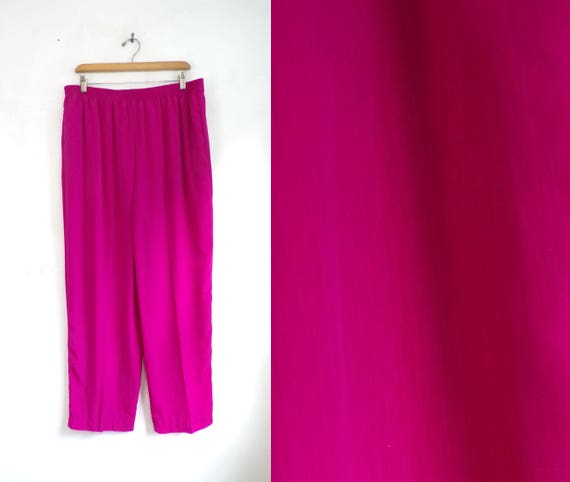 80s athletic pants fuchsia pink pants windbreaker