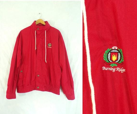 mens nautical jacket, size xl, 80s windbreaker jac