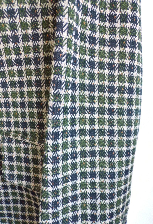1960s mad men knit travel blazer olive green brown mens blazer 60s mens plaid blazer size 40L mens sports coat mens jacket