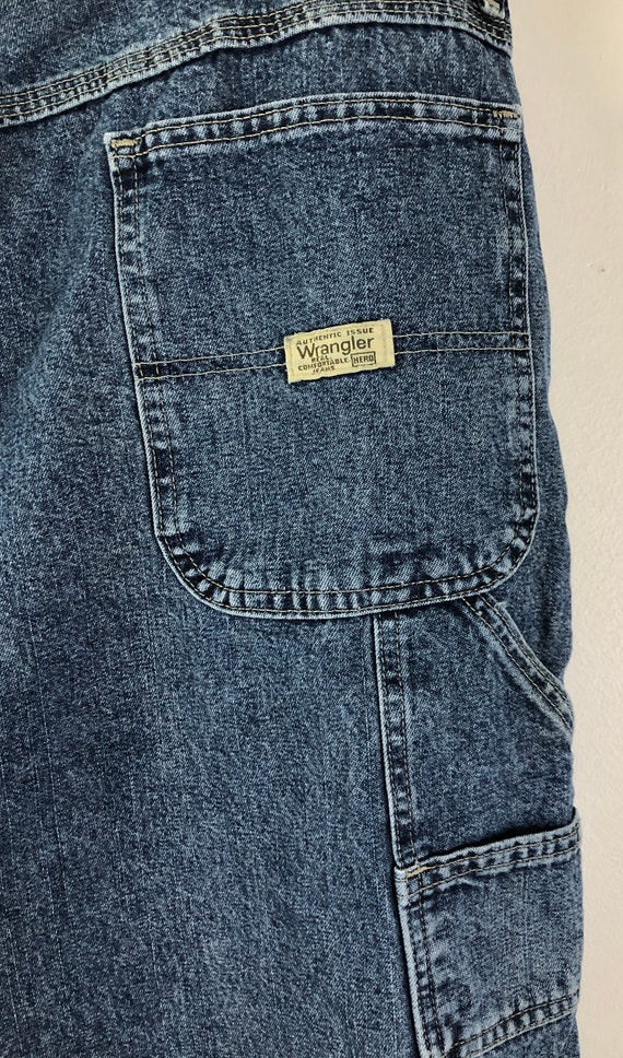 Vintage Mens Wrangle Denim Shorts | 90s Medium Wa… - image 6