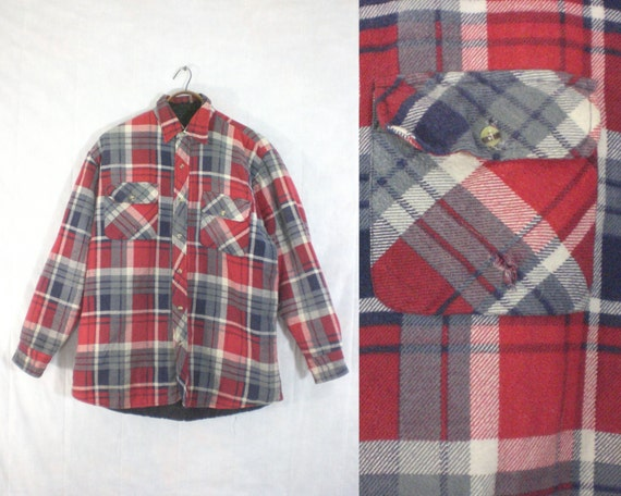 mens flannel shirt size medium. 80s shirt. mens sh