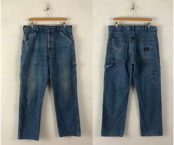 Vintage Mens Carpenter Jeans | 90s Workwear Utilit