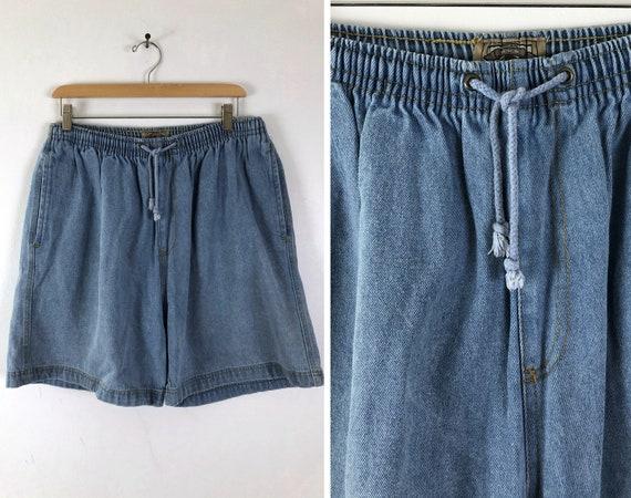 Vintage Mens Denim Shorts | 80s Light Wash Jean Sh