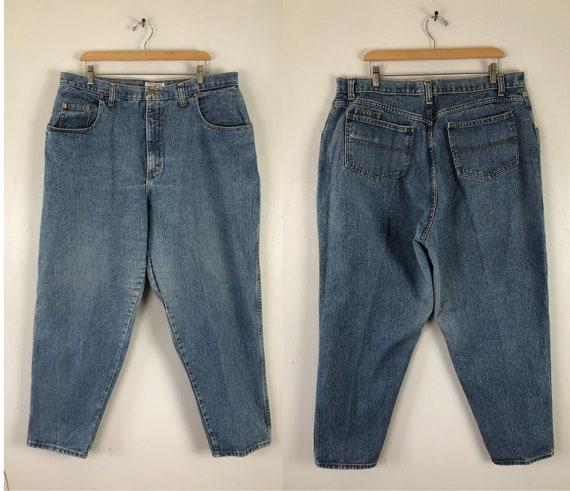 Vintage High Waist Jeans | 90s Light Wash Denim Bl