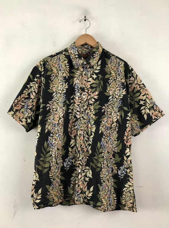 Vintage Mens Hawaiian Shirt | 90s Tori Richard Fl… - image 2