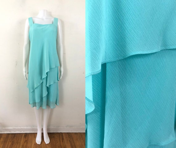 Vintage Ursula of Switzerland Dress | 80s Turquois