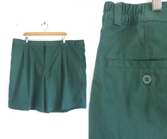 mens dress shorts size 44 hunter green shorts 80s