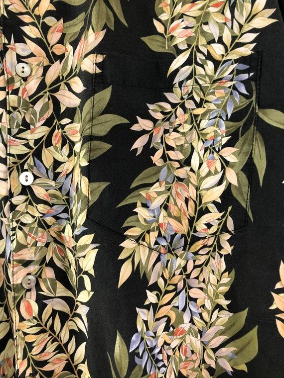 Vintage Mens Hawaiian Shirt | 90s Tori Richard Fl… - image 4