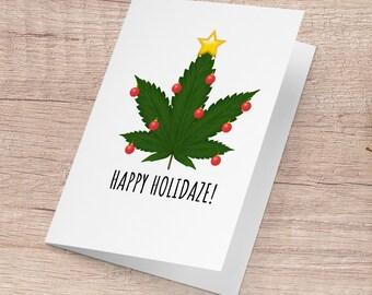 Funny Greeting 420 Funny Gift Card Christmas Card Meme Drugs Vine Internet Meme Card