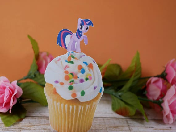 Mijn Little Pony Cupcake Topper Verjaardag Cupcake Toppers Etsy