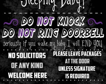 Funny No Soliciting Chalkboard Sign