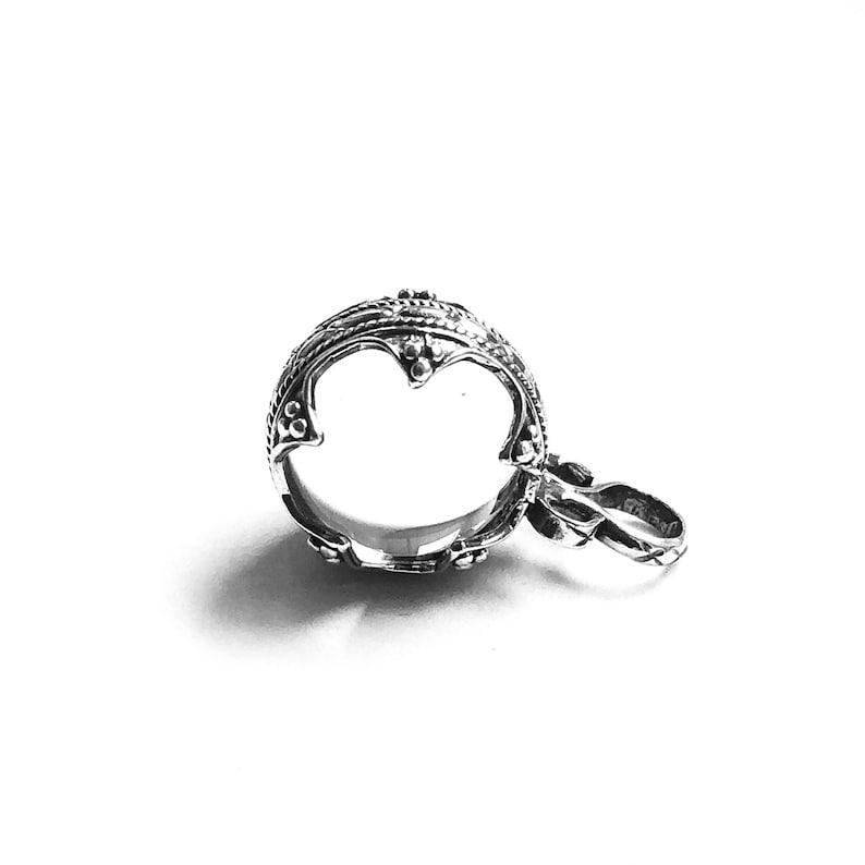 NECKLACE Gotland ball PENDANT /& dragonheads CHAIN silver handmade by Viking Kristall