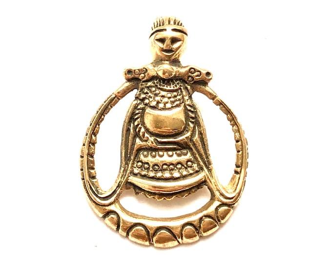 Featured listing image: ASKA FREYA PENDANT bronze (made by Viking Kristall)