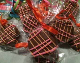 Chocolate Covered Oreo's- Two Color- One Dozen-Milk Chocolate