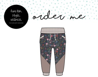 Twilight Wildflowers Joggers with Drawstring Waist and colourblocking, Comfy for Gtube Pants