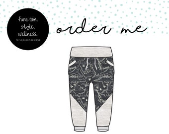Chalk Dinos Joggers with Drawstring Waist and colourblocking, Comfy for Gtube Pants