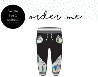 Retro Campers Joggers with Drawstring Waist and colourblocking, Comfy for Gtube Pants