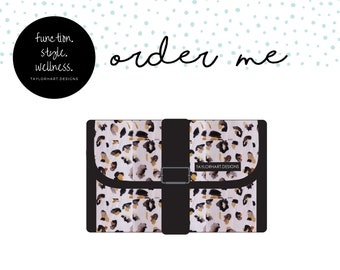 Blush Leopard Foldable Clutch Medical Supply Carry Case, Diabetic Carry Case, Emergency Meds Supply Case