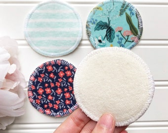 Reusable Makeup Remover and Cleansing Pads, Bamboo Terry Reusable Makeup Wipes