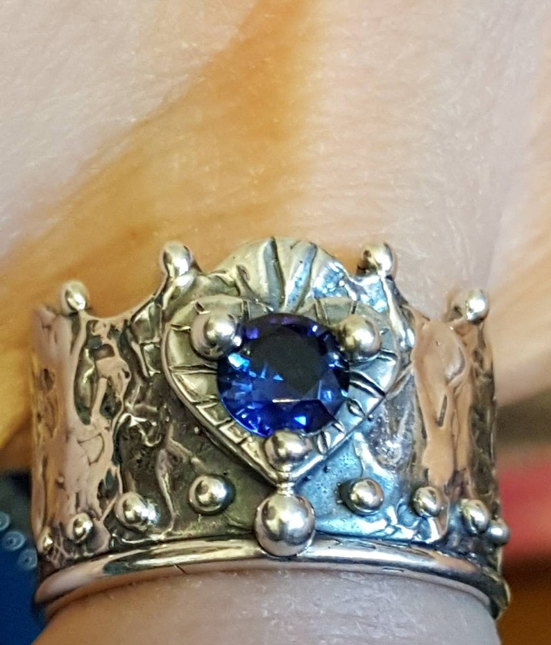 Blue Crown Ring Crown Ring image 0