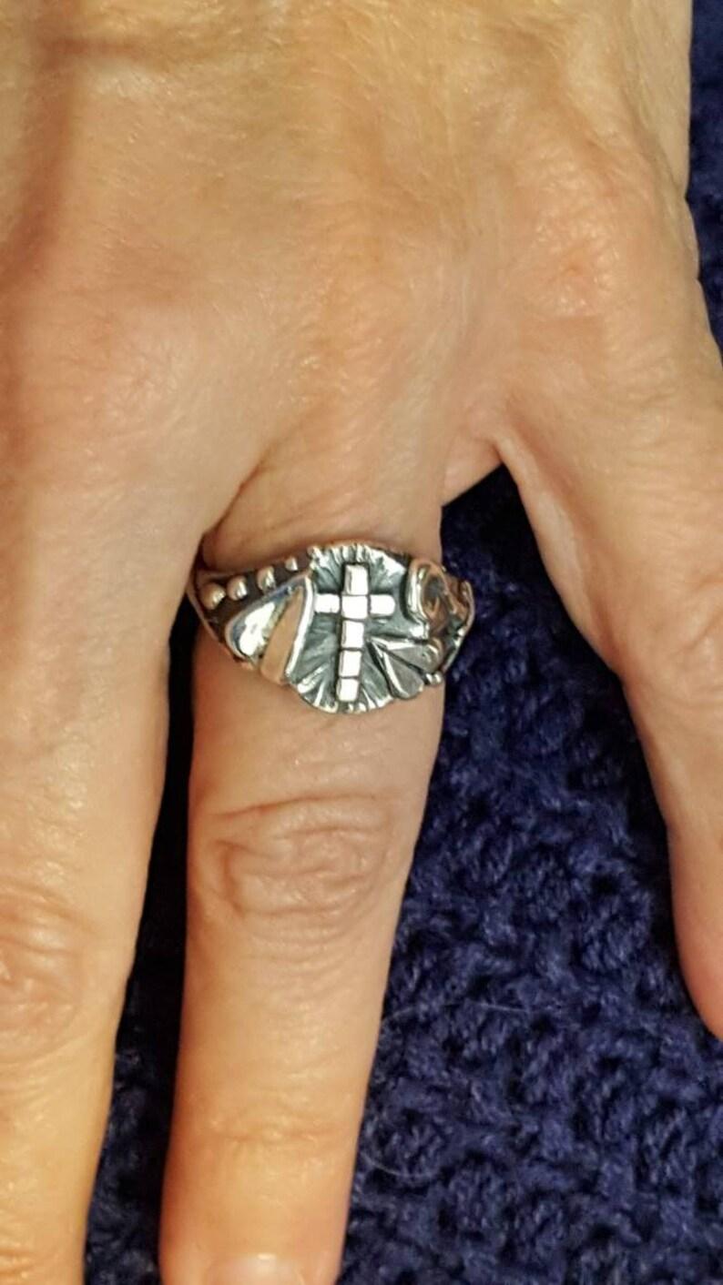 Silver Cross Ring Cross Ring Joann Marie Jewelry image 0