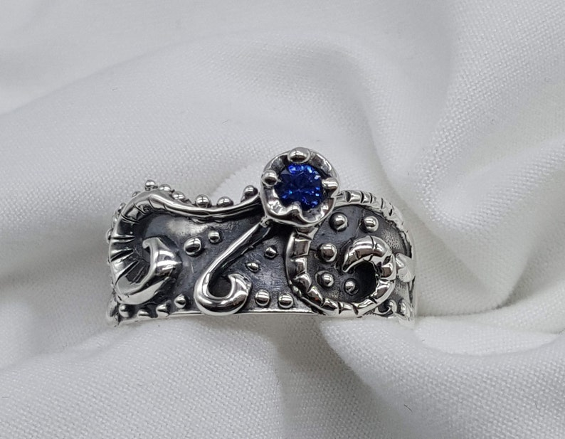 Octopus Ring Under the Sea Ring Sapphire Ring Joann Marie image 0
