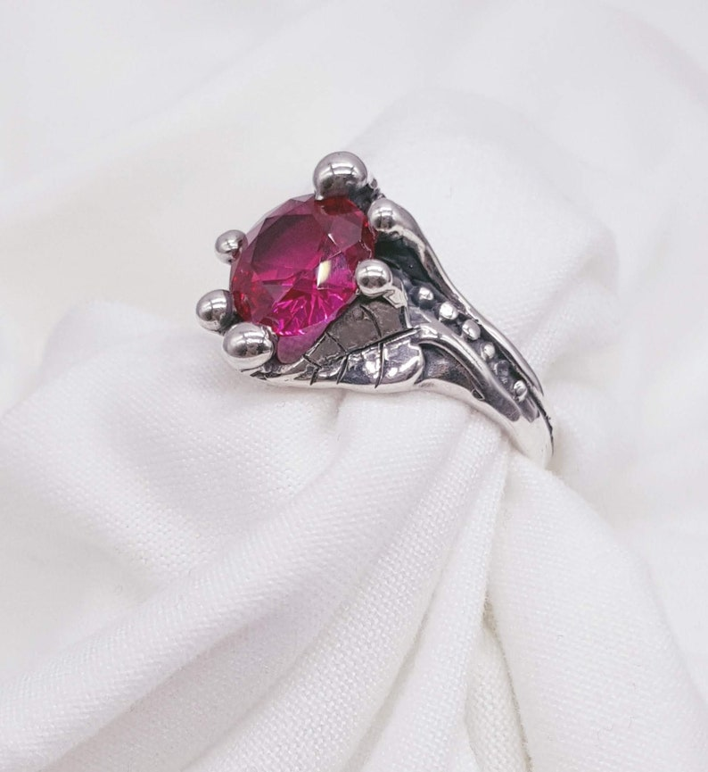 Leaf and Vine Ring Ruby Ring Joann Marie Jewelry image 0