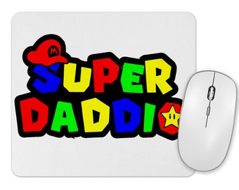 Gaming dad mouse pad. Custom mouse pad for a gamer dad. mouse pad gift for father's day