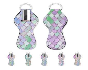 Mermaid sacales lip balm holde with key ring. Mermaid lip gloss holder for bag or keychin.