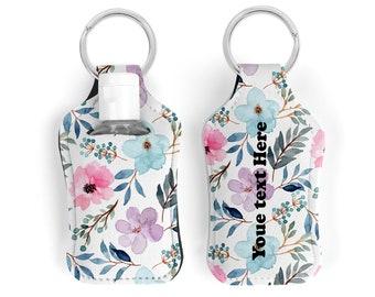 Floral hand sanitizer holder for mini hand sanitizer bottle of 30ml