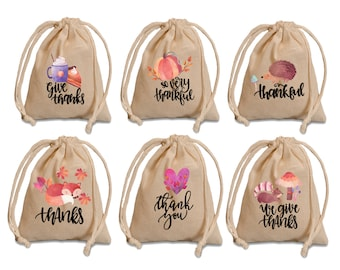 Thanksgiving favor bags. Fall party favor bags. Thanksgiving favors. Custom thank you favors. Thank you gift.Fall wedding. Fall baby shower