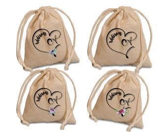 monogram favor bags. wedding party favor bags. Personalized favors. Custom wedding favors. Personalized wedding bags. shower favor bags